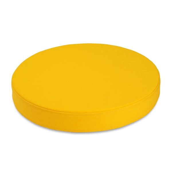 almofada fina amarela